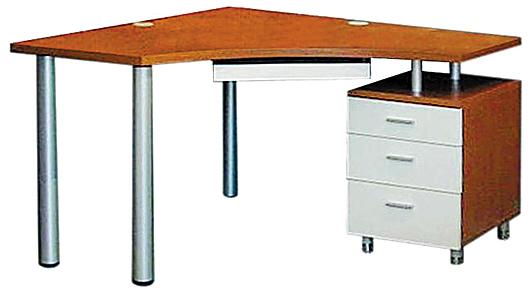 坐在电脑桌边能轻松取用柜里的书籍,简约且方便.
