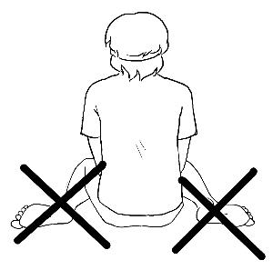 动漫跪坐姿势素材q版