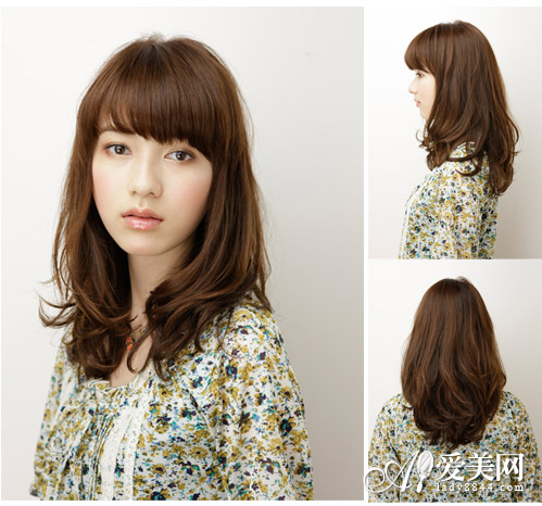中长发烫发发型图片 示范淑女甜美