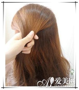 长发变短发 简单盘发变气质波波头图片