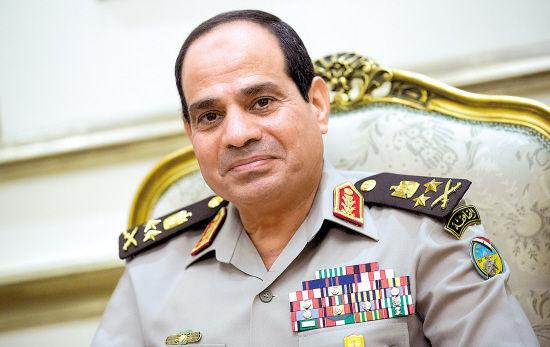 资料图:埃及国防部长塞西。