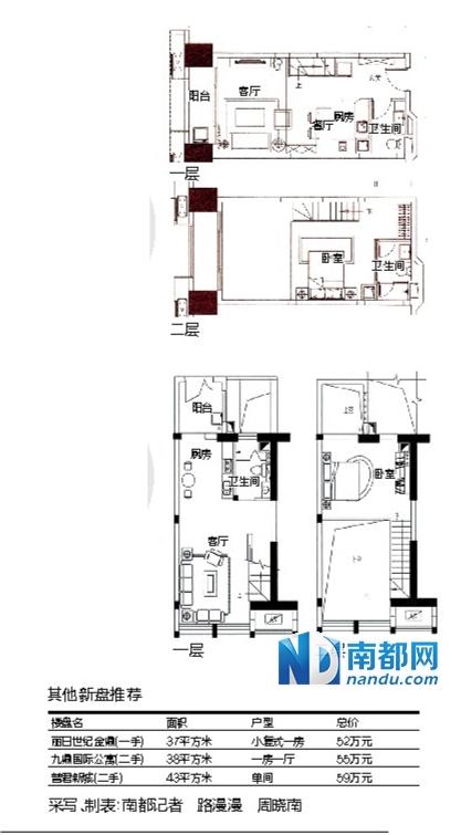 长方形复式公寓设计图