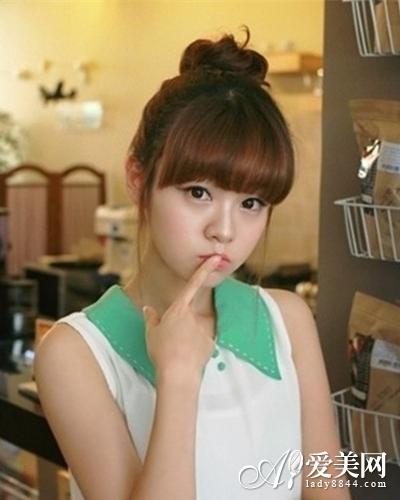 简单韩式盘发 职场新人必备甜美造型