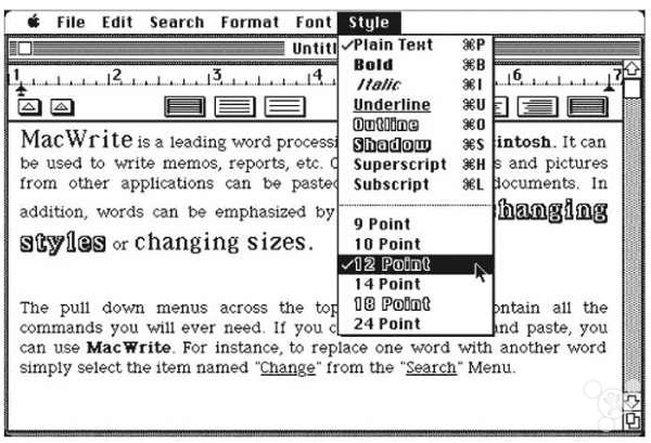 苹果 macintosh/Macintosh同时还推出了拖拽图标的概念,在屏幕上将图标从一个...