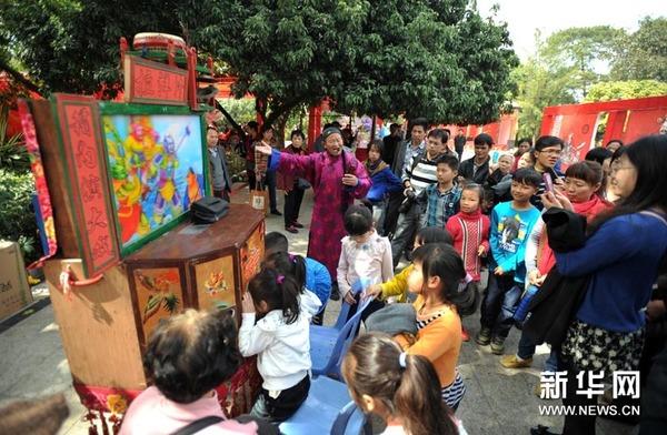 在广西南宁市人民公园第三届春节庙会上