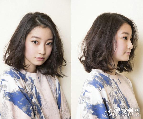 新款女生中短发发型来袭 主打淡雅风图片