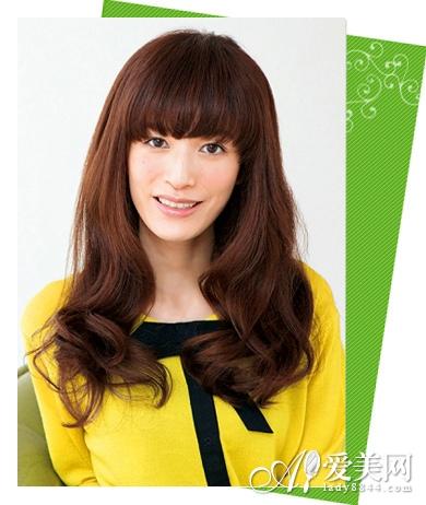 最新中长发发型图片 甜美首选日系 发型 齐刘海_凤凰