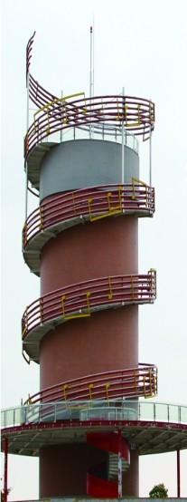 """水塔被改造成""""淠河欢歌""""观光平台"""
