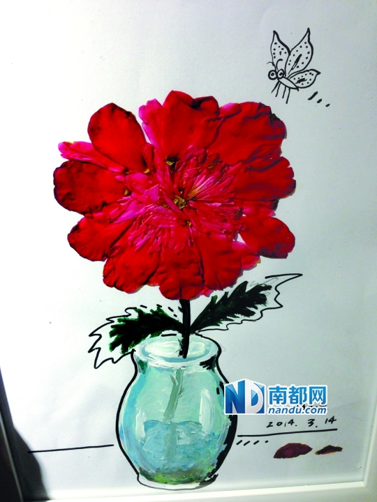 把小树儿种在用旧塑料瓶做出的小花盆里,种在白云山上,种在纸上,种在图片