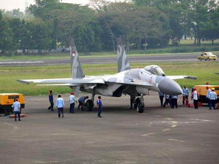 印尼空军新装备的苏-30MK2战斗机(资料图)