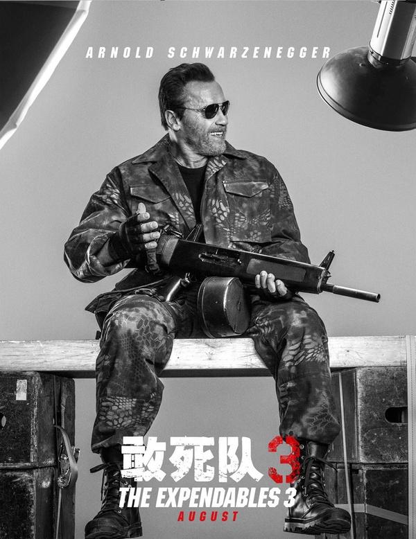 《敢死队3》海报 李连杰回归梅尔·吉布森老牌明星加盟
