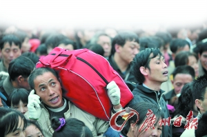 流动人口占了广州人口总量的一半。 资料图片