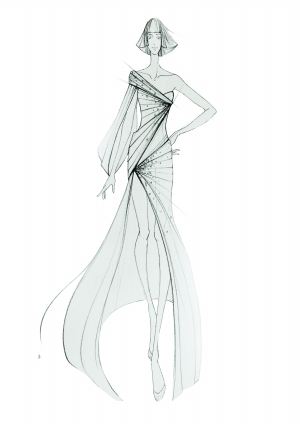 韩式 婚纱 铅笔画步骤