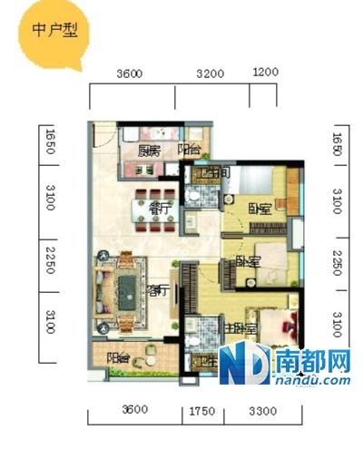 万科东荟城c区平面图