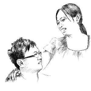 唯美母爱手绘图片