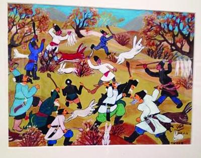 中国梦主题创作的近100幅优秀农民画作品