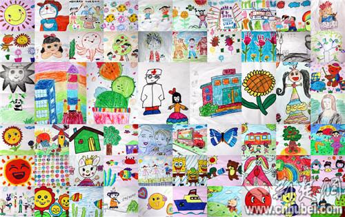 湖北脑病孩子手绘61幅作品献礼2014年儿童节(组图)