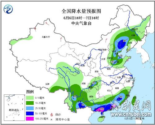 中央气象台未来三天全国天气预报图-湖北天气有利高考 预报无雷暴及