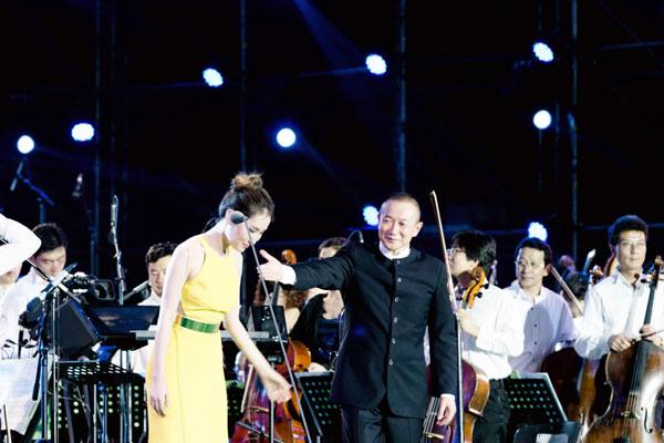 王冰冰携手谭盾北京唱响2014森林音乐会(图)