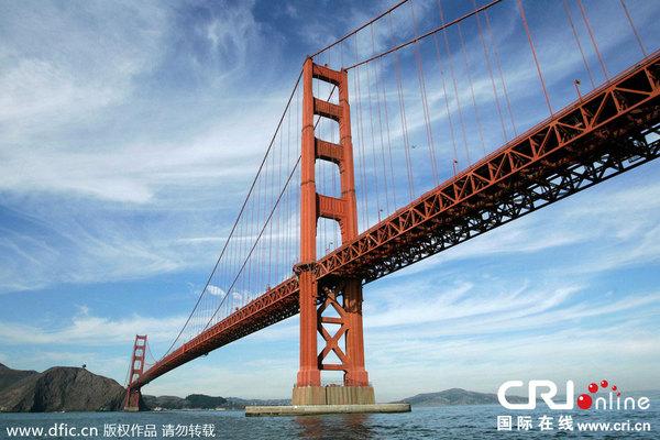 中国金门大桥为防自杀拟花7600万美元装v图纸美国图纸水土保持标识图片
