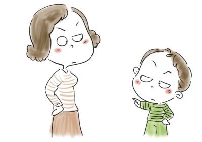小孩子生气可爱图片