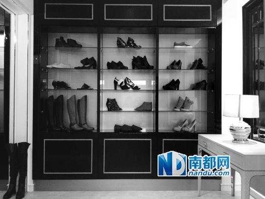 鞋柜内部cad结构图