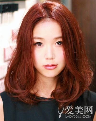 菱形脸女生染发图片 巧克力色时尚甜美|发型|时尚