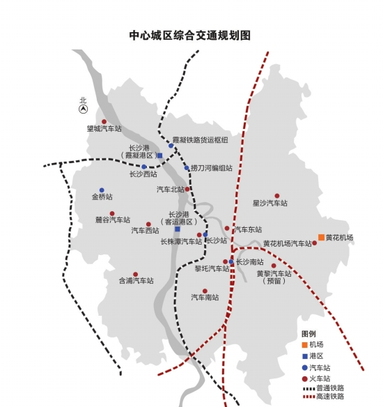 规划建设霞凝铁路货运枢纽,建京广铁路货运外移线,缓解城市交通压力.