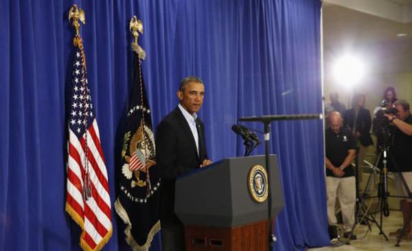 """福利/""""伊斯兰国""""公布斩首福利的视频后,奥巴马发表声明。"""