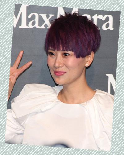 紫色蓝色搭配发型