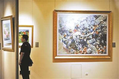 绚丽的景色,传神的人物形象,展示了中国水彩画的独特魅力.