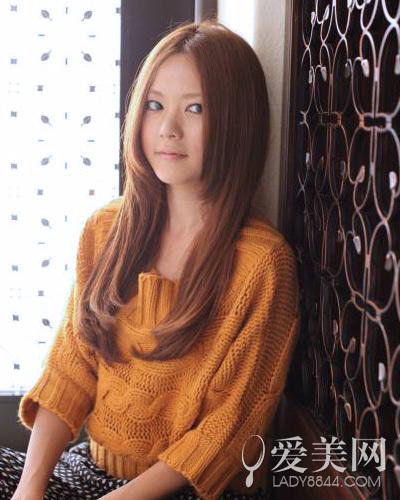 日系女生长发发型 直发简约卷发时尚图片