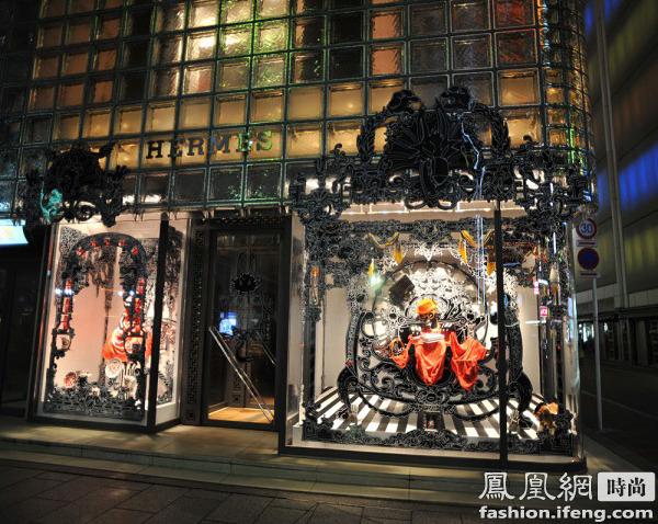快讯  日本东京爱马仕银座店橱窗设计 东京银座的爱马仕橱窗设计新颖