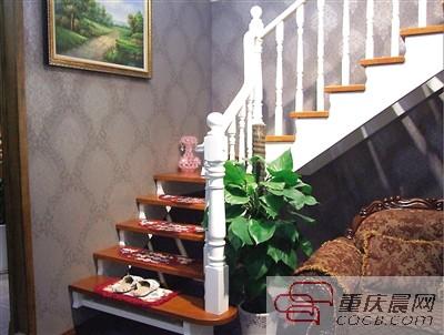 安信实木楼梯扶手图片