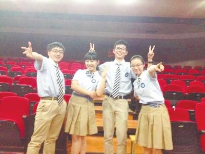 省实验中学的校服-学院风 运动潮 个性 新潮成新时期校服特征符号
