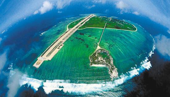 中国记者航拍西沙群岛壮美全貌