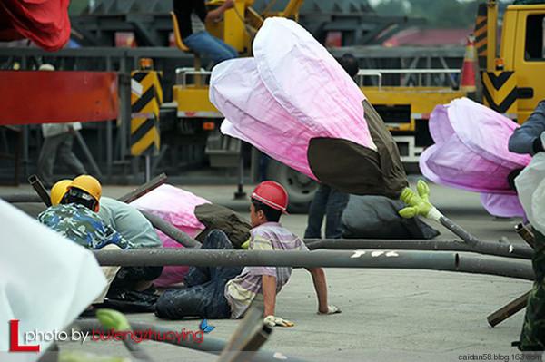 天安门广场花坛摆花已初见雏形 - 大海 - 大海