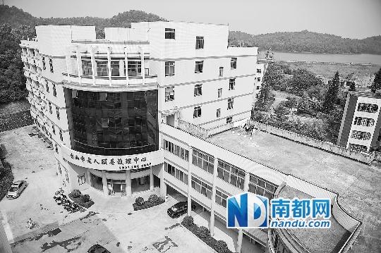 臺山市人民醫院石花老人頤養護理中心俯瞰圖。