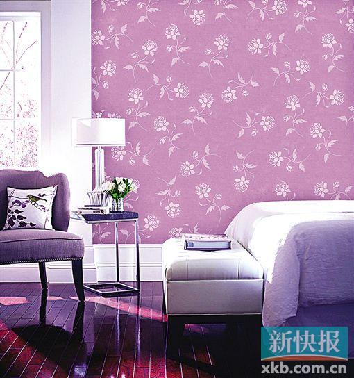 2 立体墙面漆可以仿真出壁纸效果