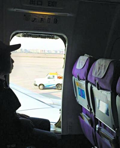 飞机安全门的座位