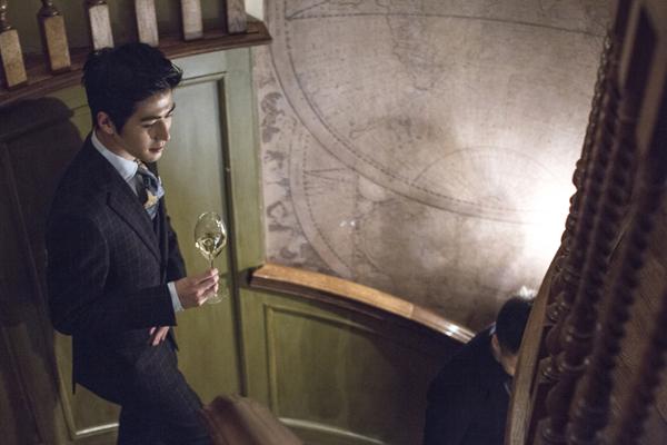 绅士领带复古手绘