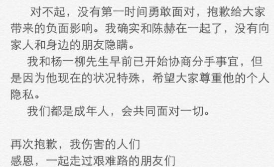 张子萱承认与陈赫恋情 已与丈夫