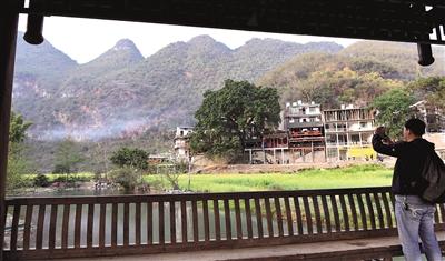 客在坝美村拍摄美景(2月23日摄).-世外桃源