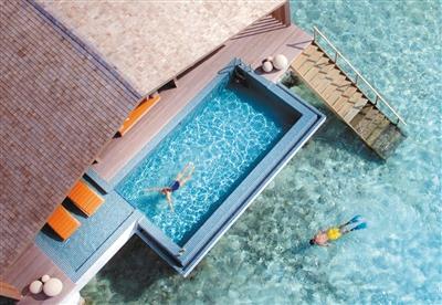 翡诺岛水上别墅更有独具特色的私人水域。资料图片
