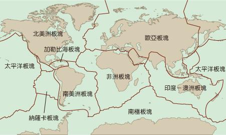 地球板块矢量图