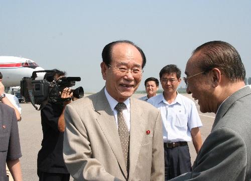 资料图:朝鲜最高人民会议常任委员会委员长金永南。