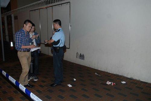 警员在场调查。(图:香港《星岛日报》网站)