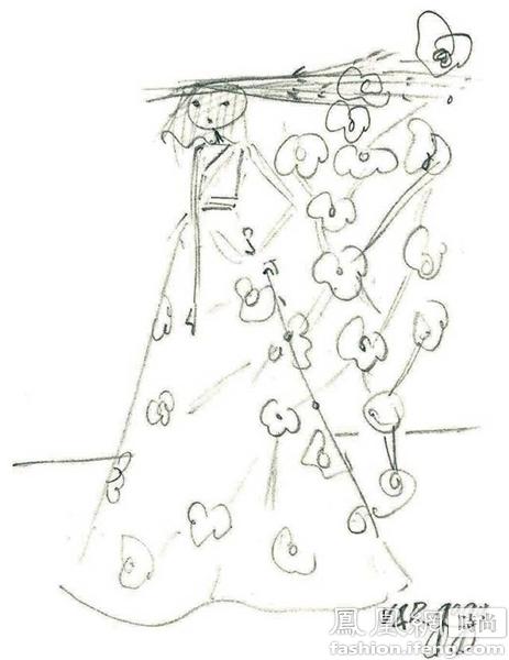 手绘头纱画法简单