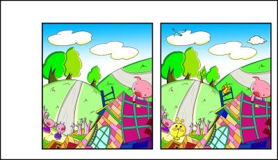 找出左右两图的不同之处,答案见本版.-找不同