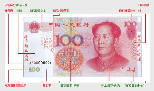 新人民币100图片 错版人民币100图片 人民币100元面额图片